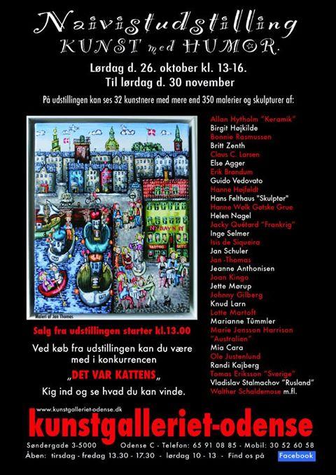 Udstilling i kunstgalleriet Odensed. 26. oktober – 30. november